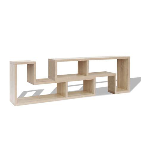 L Tv Cabinet vidaxl tv cabinet l shaped oak vidaxl co uk