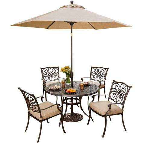 Furniture Patio Table And Chairs With Umbrella Home For