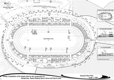 arena floor plans gallery of 2018 pyeongchang speedskating arena proposal
