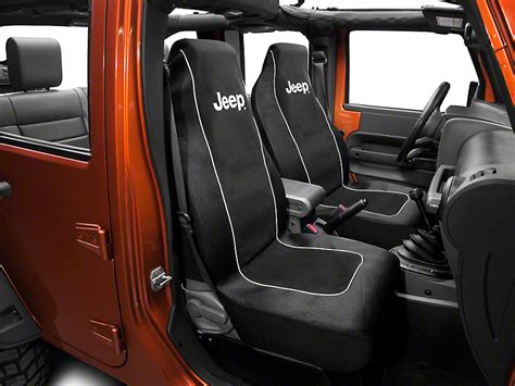 Jeep Logo Seat Covers Wrangler Alterum Wrangler Jeep Logo Embroidered Seat Cover J102028