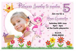 10 personalised princess birthday photo invitations n84 ebay
