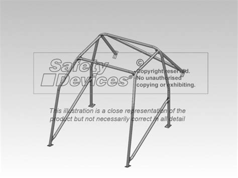 ford mustang 6 point bolt in roll cage safety devices