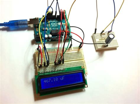 arduino test capacitor how to make an arduino capacitance meter