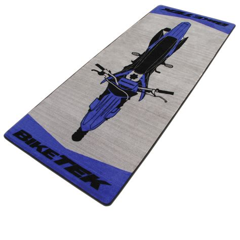 bike rug biketek garage motorcycle bike motorbike designer workshop carpet rug mat ebay