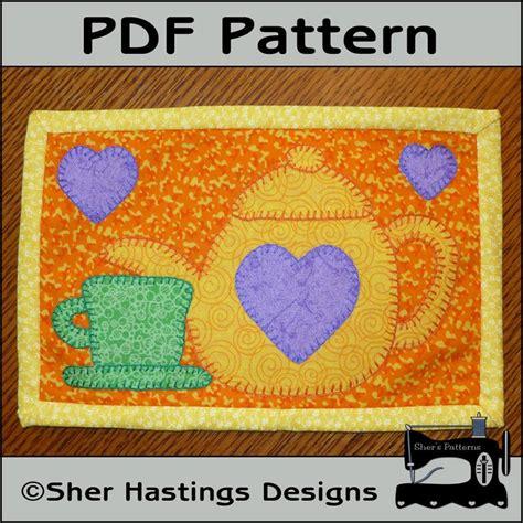 Pdf Pattern For Tea Time Mug Rug Teapot Mug Rug Pattern Tea Free Rug Templates