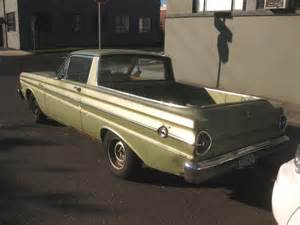 parked cars 1965 ford ranchero
