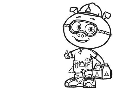 Alpha Pig Coloring Page | super why coloring pages best coloring pages for kids