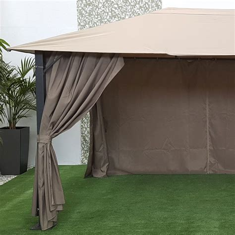 New Gazebo Provence 3m X 4m Gazebo Graphite My New Gazebo