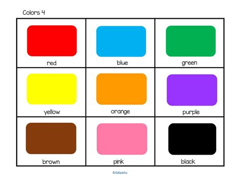 flash card maker colors colors flashcards kidsparkz