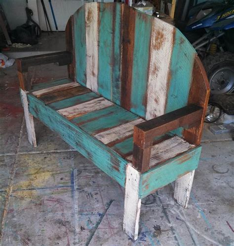 wooden pallet bench plans recycled crafts