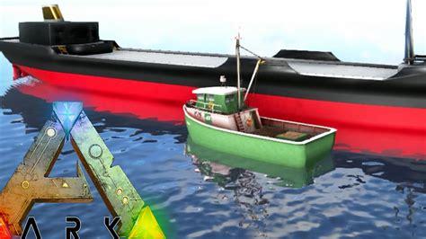 ark boat mod ark survival evolved cargo barge fishing boat floating