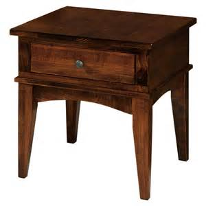 amish furniture end tables amish aldine end table amish