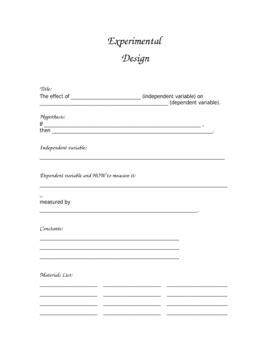 printable for experimental design template by leann