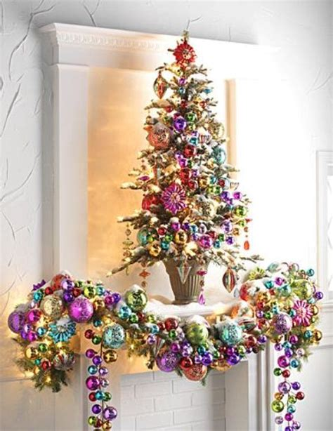 how to decorate a christmas tree with colorful lights 23 colorful tree d 233 cor ideas shelterness