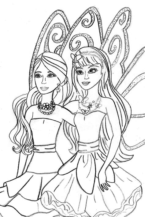 barbie and the diamond castle free colouring pages
