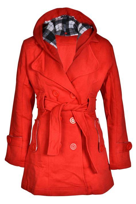 Jaket Fleece Jaket Dc Fleece Jaket Swf Cewe Swf 96 Black 1 new womens hooded belted fleece button coat check