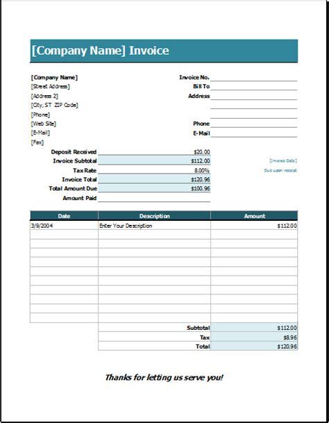 service receipt template excel wedding services invoice template excel invoice templates