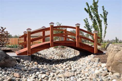 backyard bridge designs garden bridges asian landscape other metro by