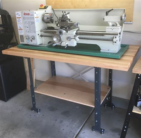 metal lathe bench 11 quot x 26 quot bench lathe w gearbox grizzly industrial