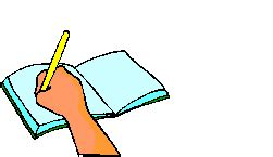 books pens pencil paper and turning page gif animations