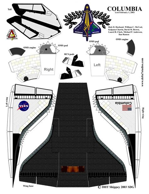 How To Make A Spaceship Out Of Paper - space shuttle paper model print out page 4 pics about