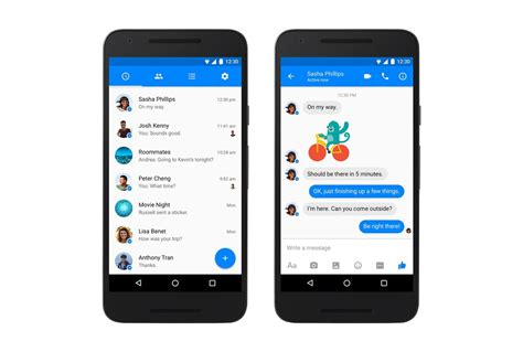 best android messenger messenger is getting a material design refresh android central