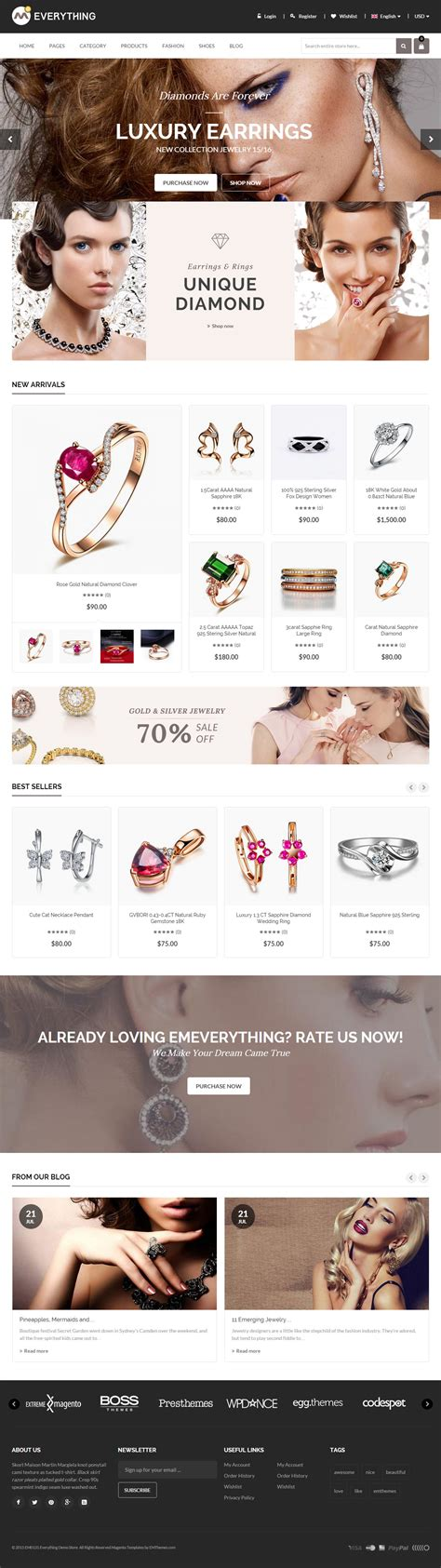 magento themes jewelry store 10 best magento jewelry themes 2017 responsive miracle