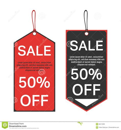 Sale Tag Template Stock Vector Illustration Of Percent 96213399 Sales Tag Template