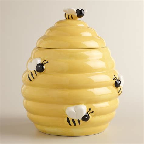 Yellow Kitchen Canisters by Beehive Cookie Jar World Market