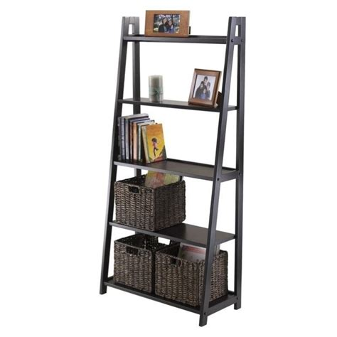 5 tier a frame shelf in black 20513
