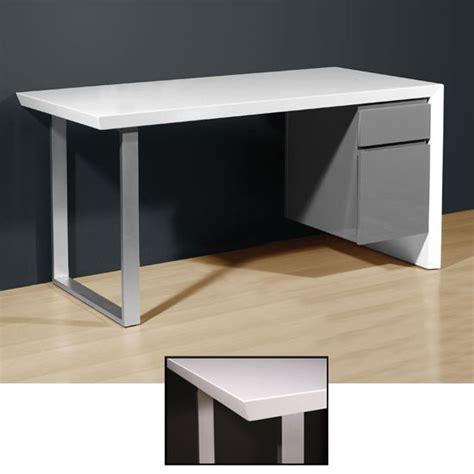 media office desk in high gloss white grey 4027 158