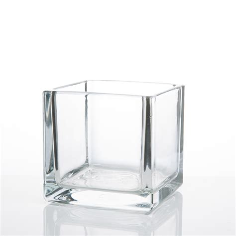 glass vase square glass vases 4x4