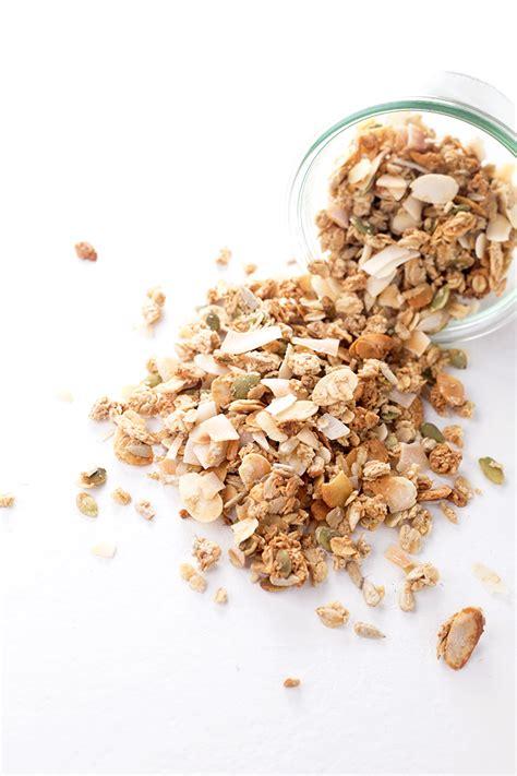 Granola Almond vanilla almond vegan granola vegan kitchen