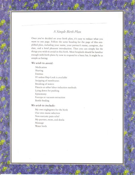 cesarean birth plan template c section birth plan worksheet