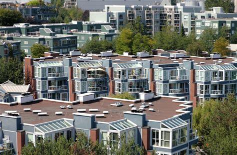 Apartments City Canada Condominiums Apartments Vancouver Bc Canada Stock