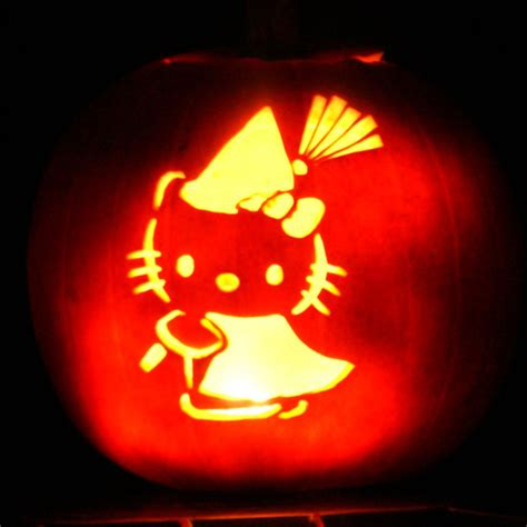 jack o lantern templates hello kitty animal and sci fi pumpkin carving templates popsugar tech