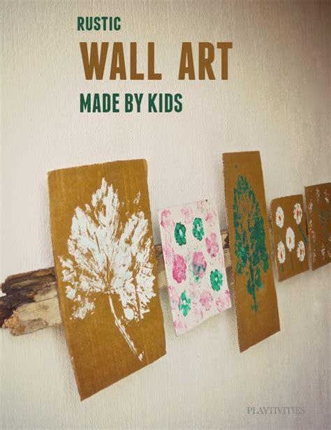 diy wall art made by kids playtivities