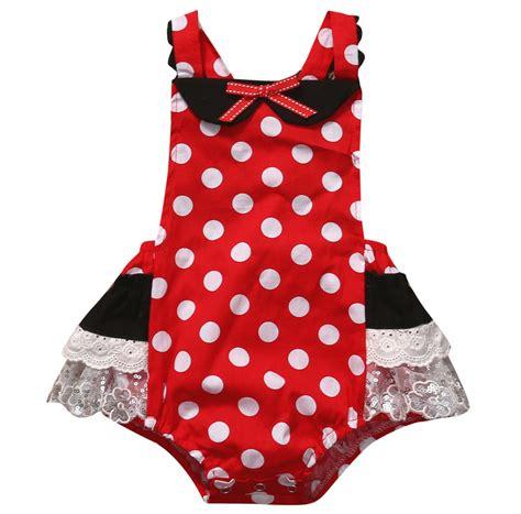 Romper Polka Minnie 2017 minnie mouse polka dot baby set newborn infant baby