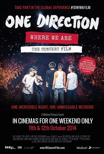film dokumenter one direction where we are carteles de la pel 237 cula one direction where we are el