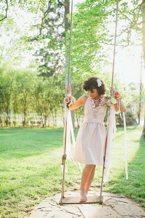 tea party swings bridesmaid on tree swing elizabeth anne designs the