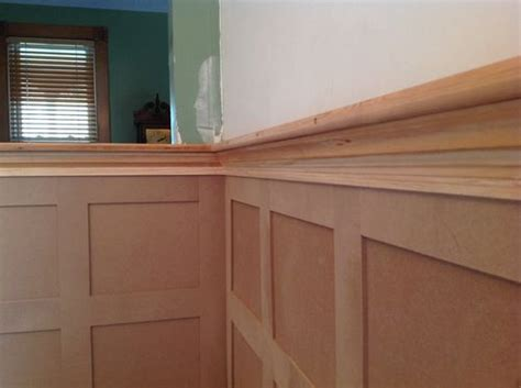 Wainscoting Cap Rail Flat Panel Wainscoting 3 The Room Goes By