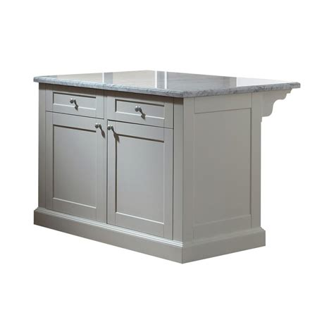 kitchen island home depot martha stewart living maidstone 54 in white kitchen