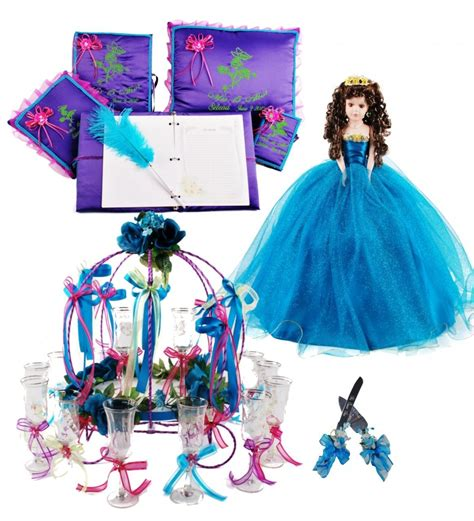cute themes for quinces flower quinceanera package toasting set doll pillows
