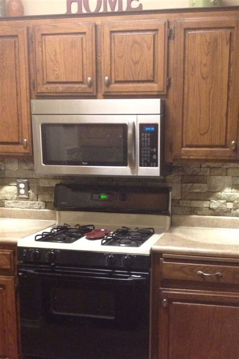Do It Yourself Backsplash Kitchen Cheap Do It Yourself Kitchen Backsplash All You Need Is Airstone Carried By Lowes Airstone