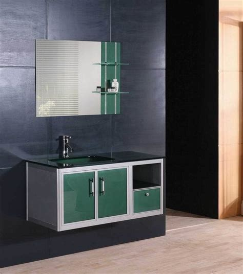 Glass Bathroom Cabinets China Aluminum Bathroom Cabinet Glass Vanity 5160 China
