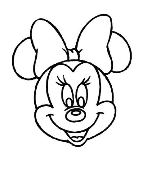 mouse head coloring page minnie mouse head vector sketch coloring page