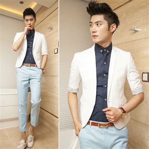 Bj 0958 White Collar Slim Dress three quarter sleeve suit white blazer s summer
