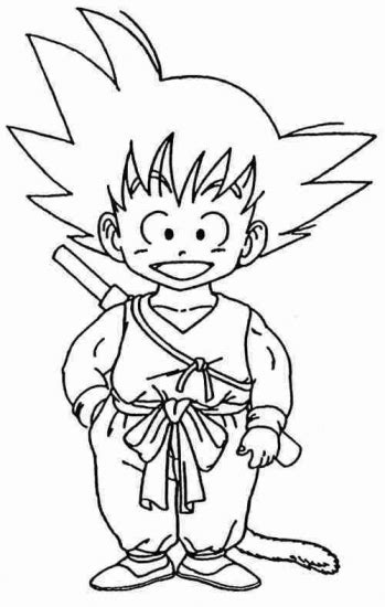 Goku Coloring Pages Coloring Pages To Print Goku Coloring Pages