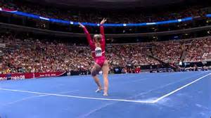 Floor Gymnastics by Shawn Johnson Floor Exercise 2008 Olympic Trials Day