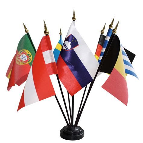 drapeau de table des nations en satin 10x15 cm doublet